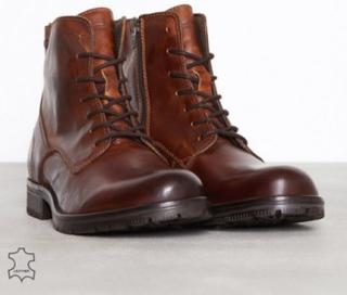 Jack & Jones Jfworca Leather Boot Cognac Noos Støvler Lysebrun