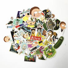 69Pcs/lot Drama Rick and Morty 2019 Stickers Decal For Snowboard Laptop Luggage Car Fridge DIY Styling Vinyl Home Decor Pegatina