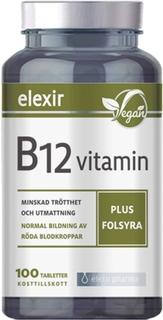 Elexir Pharma Vitamin B-12 vitamin plus folsyra 100 st