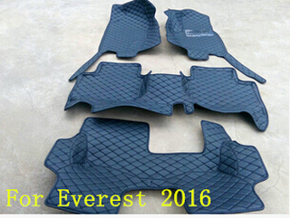 Good! Custom special floor mats for Ford Everest 7seats 2017 waterproof durable boot carpets for Everest 2016,Free shipping