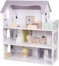 Dockhus Sophie med möbler 70 cm Woodi World Toy