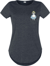 Alice in Wonderland - Falling -T-skjorte - svart