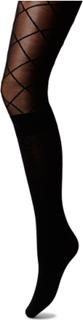 Pp Pattern Modal Sock Tights Strumpbyxor Svart Pretty Polly