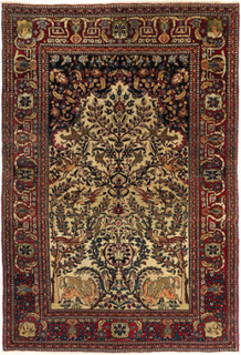 Isfahan antik matta 140x205 Persisk Matta