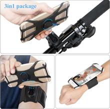 Mobile Phone Sports Armband Wrist Bag Rotatable Key Holder Phone Armband for Hiking Biking Walking Elastic Band Wristlets 2020