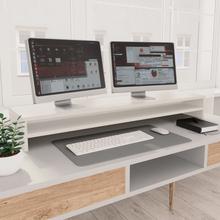 vidaXL skærmstander 100 x 24 x 13 cm spånplade hvid