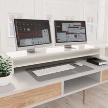 vidaXL skærmstander 100 x 24 x 13 cm spånplade hvid højglans