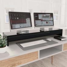 vidaXL skærmstander 100 x 24 x 13 cm spånplade sort højglans