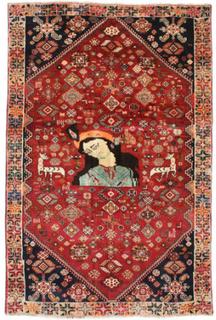 Ghashghai figur / bilde teppe 132x197 Persisk Teppe