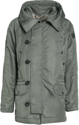 True Religion Parkas chalk green