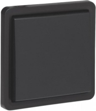 Splashproof non-illuminable push button 10 a/250 vac with 4 connection terminals and a n.o. or n.c. contact excluding surface-mounting box with plug-in terminals black