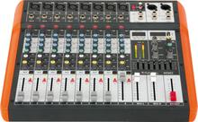 IBIZA 8 kanals mixer med USB och Bluetooth