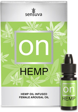 Sensuva - ON Arousal Oil for Her Hemp Oil Infused 5 ml