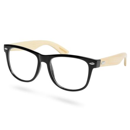 Svarte Bambusbriller Uten Styrke