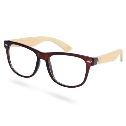 Brune Bambusbriller Uten Styrke