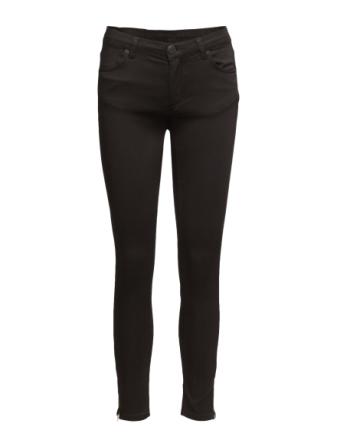 Nicole 006 Zip, Moon Black Satin, Jeans