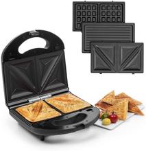 Trilit 3-in-1 Sandwich maker 750W 3 grillplattor LED non-stick svart