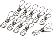 Klädnypa / Klämma i rostfritt stål, 10-pack