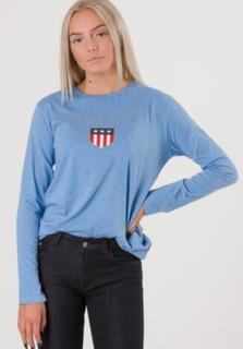 Gant TB. GANT SHIELD LOGO LS T-SHIRT Blå T-shirt/Linnen till Tjej