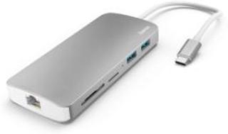 HAMA USB-C Docking Station 7-in-1 2x USB HDMI LAN SD micro SD USB-C