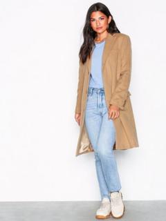 Lauren Ralph Lauren Wool Coat Kappor Light Beige