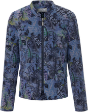 Jersey-Jacke Rabe blau