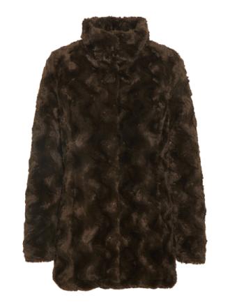 VERO MODA Synthetic Fur Jacket Women Green