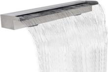vidaXL Rektangulärt vattenfall poolfontän i rostfritt stål 150 cm