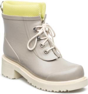 Women Short Rub Boots Regnstøvler Sko Beige ILSE JACOBSEN