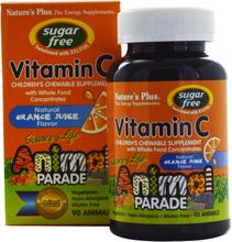 Vitamin C, Sugar Free, Natural Orange Juice Flavor (90 Animals) - Nature's Plus