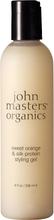 John Masters Organics Sweet Orange & Silk Protein Styling Gel, 237ml John Masters Organics Hårgel