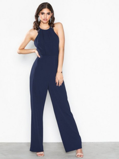 NLY Eve Crepe Jumpsuit Navy