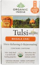 Tulsi Heiliges Basilikum Tee, Masala Chai, 18 Infusion Säcke (37,8 g) - Organic India