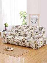 1 Stk. Blumenmuster Elastische Sofabezug 1/2/3/4 Sitze L-förmiger Schnittbezug Couchbezug Wohnzimmermöbelschutz
