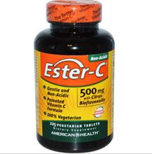 American Health, Ester-C 500 mg Citrus Bioflavonoide, 225 Veggie-Tabs