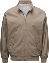 Catalina Jacket W/Stripped Oxford L Bomberjacka Jacka Beige Knowledge Cotton Apparel