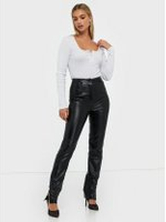 Missguided Co Ord Side Split Faux Leather Trouser Skinn