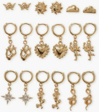 NLY Accessories 9 Pack Amore Earrings