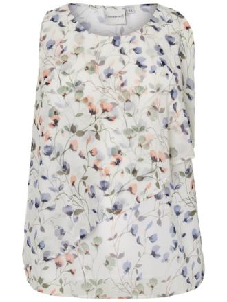 JUNAROSE Flower Printed Blouse Women White