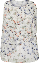 JUNAROSE Flower Printed Blouse Women White