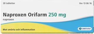 Naproxen Mylan, tablett 250 mg 10 st