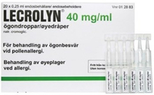 Lecrolyn ögondroppar endosbehållare 40 mg/ml 20 x 1 doser