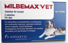 Milbemax vet. för hundar, tablett 2 st