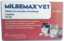 Milbemax vet. för små katter och kattungar, filmdragerad tablett 2 st