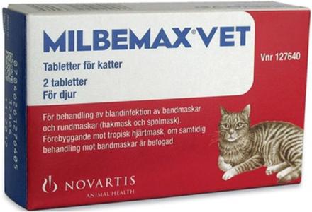 Milbemax vet. för katter, filmdragerad tablett 2 st