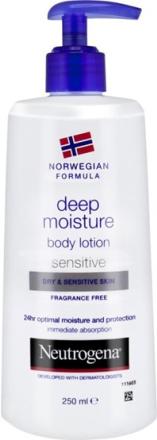 Neutrogena Norwegian Formula Deep Moisture Body Lotion Dry & Sensitive Skin