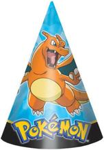8 stk Partyhatter - Pokémon Fest