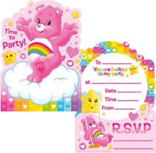 6 stk Invitasjoner - The Care Bears