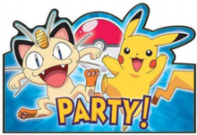 8 stk Invitasjoner - Pikachu og Pokémon-Venner