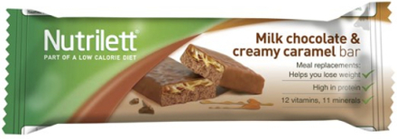 Nutrilett Milk Chocolate & Creamy Caramel Bar 60 g